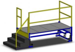 Fixed Steps Operator Lift Platform by LTW Ergonomic Solutions