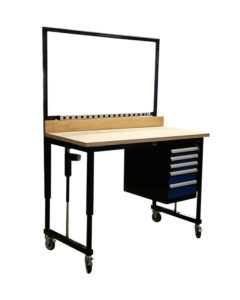 E2-Workstation-with-Drawers-and-Outlet-Strip-Otlined-LTW-Ergonomic-Solutions