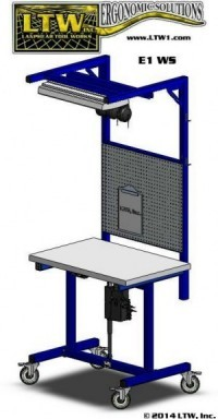 E1 Height Adjustable Workstation Workbench by LTW Ergonomic Solutions