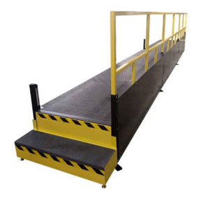 Height Adjustable Operator Platform Lift with Fixed Steps by LTW Ergonomic Solutions