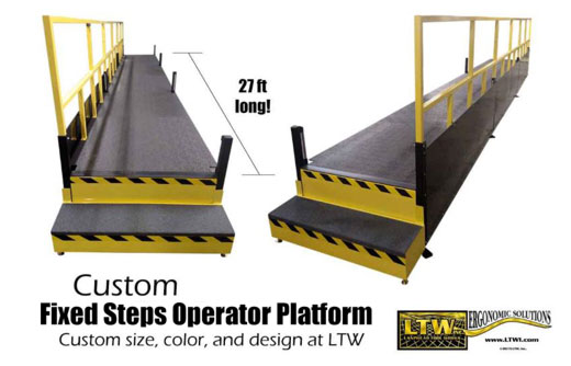 Custom Operator Platform Lift with Fixed Steps by LTW Ergonomic Solutions