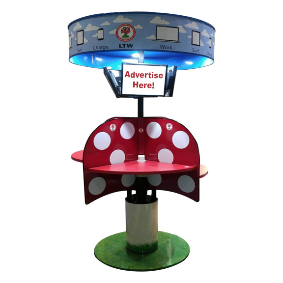 LTW Inc. LTW Ergonomic Solutions Ergonomic MPublic Mushroom Meeting Table Standing Meeting adjustable height conference table round mushroom
