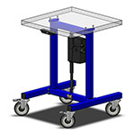 height adjustable assembly machine base