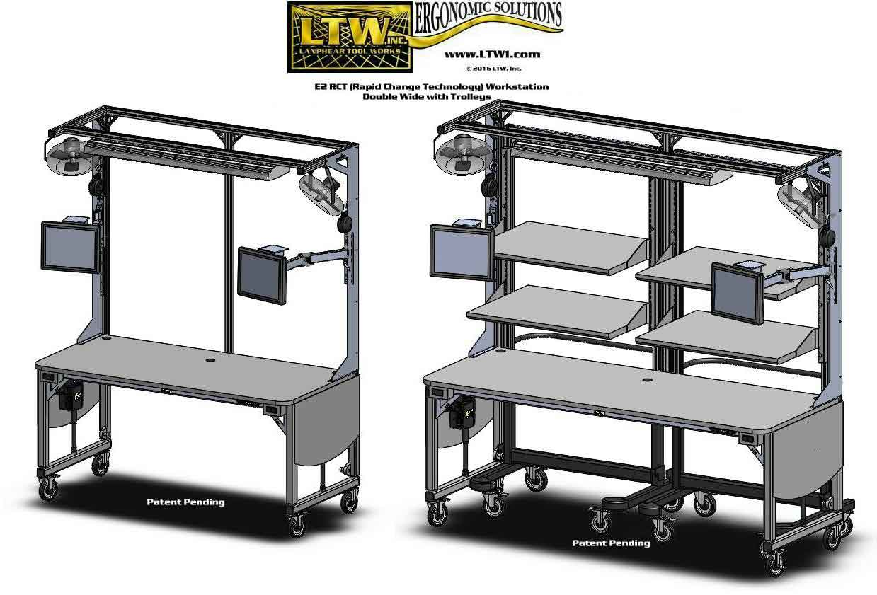 1 Gen IIII E2 Workstation with Trolley LTW Ergonomic Solutions
