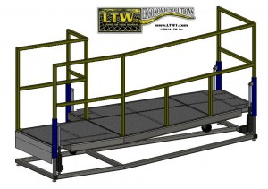 Custom Operator Lift Platform by LTW Ergonomic Solutions