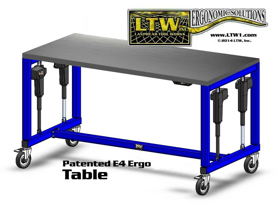 height adjustable cleanroom table