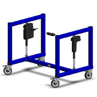 height adjustable packing and shipping machine base