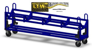 E4 Steel Material Bar Cart for moving heavy weight bars by LTW Ergonomic Solutions