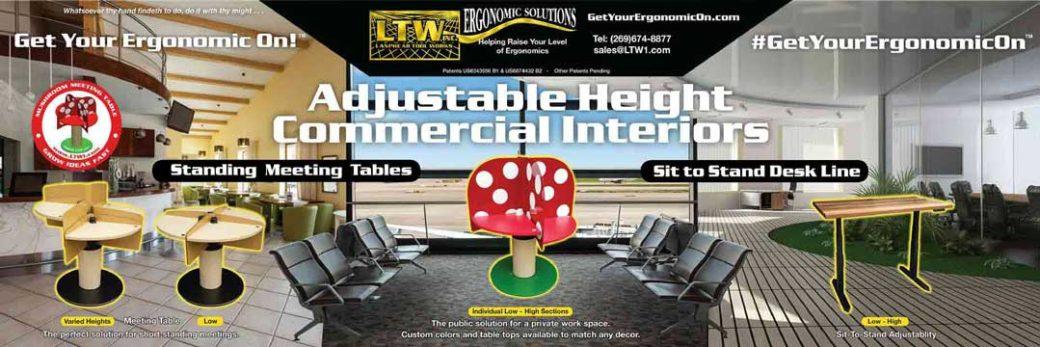 LTW Ergonomic Solutions Custom Interiors Standing Meeting Tables