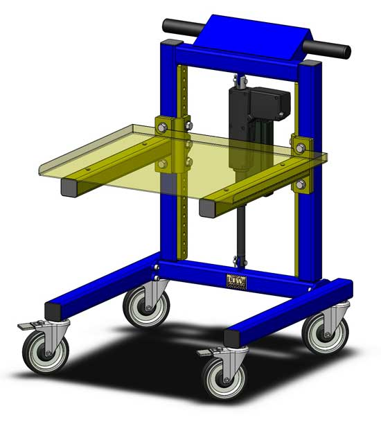 LTW Ergonomic Solutions RCT-SL Workstation and Cart System Left