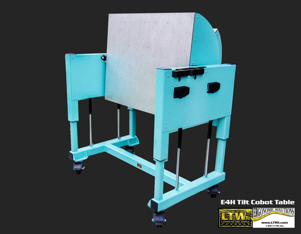 E4H Tilt Cobot Table CoBase™- Table for collaborative robots - Tilting Welding Table - Copyright LTW Ergonomic Solutions
