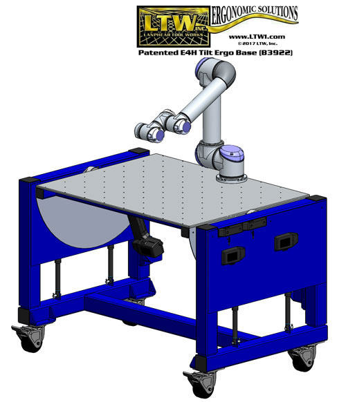 height adjustable assembly robot table