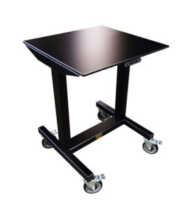 Fast Lift Height Adjustable E2 Table with Column Lifts by LTW Ergonomic Solutions - Lowered