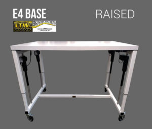 Raised height adjustable machine base - E4 Base - LTW Ergonomic Solutions