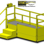 E4LC Height Adjustable Operator Platform Lift - Raised - LTW Ergonomic Solutions