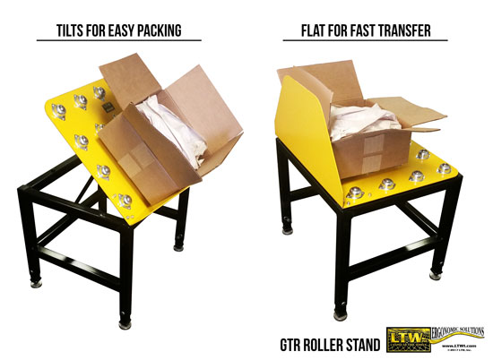 GTR Tilting Roller Box Stand by LTW Ergonomic Solutions