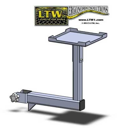 LTW Small Accessory Arm for Workstations and Tables by LTW Ergonomic Solutions - 1