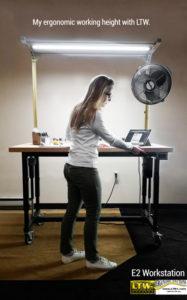 E2 Workstation height adjustable table workstation LTW Ergo Solutions