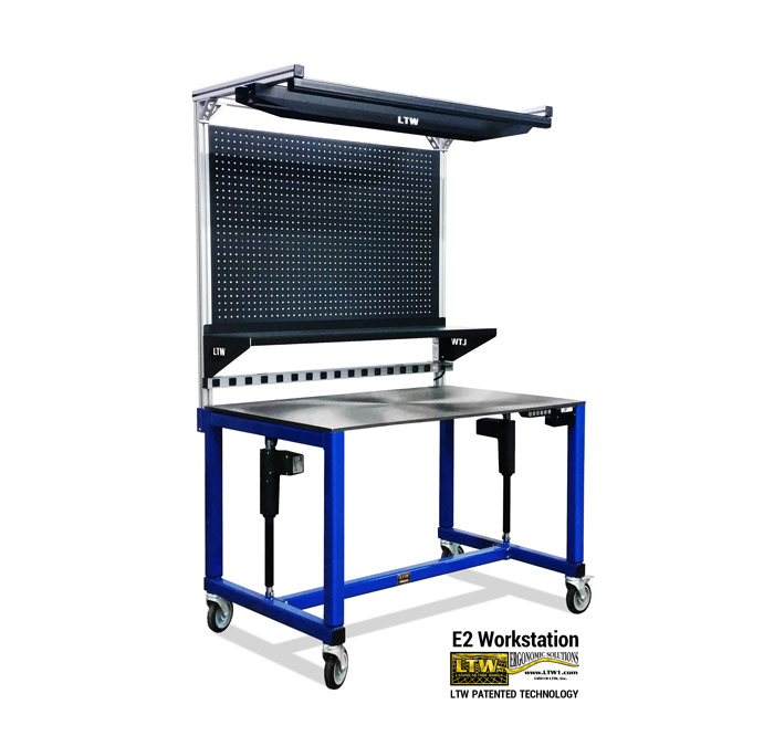 E2-Workstation-LTW-Ergonomic-Solutions-Industrial-Height-Adjustable-Electric-Workstation-Workbench-7-9-19