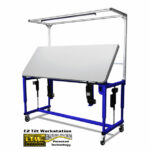 Adjustable Tilt Table Raised - Ergonomic Height Adjustable Tilting Workstation by LTW Ergonomic Solutions