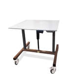 Industrial Height Adjustable Small Machine Base Table by LTW Ergonomic Solutions