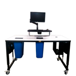 Industrially Height Adjustable Shipping Table by LTW Ergonomic Solutions