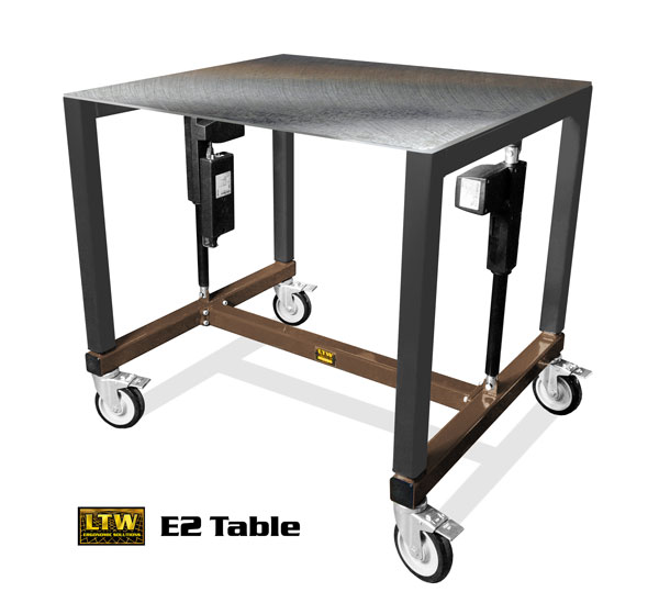 Height Adjustable Machine Base Industrial E2 Table by LTW Ergonomic Solutions