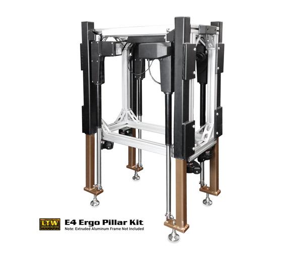 E4 Ergo Pillar Kit | Height Adjustable Retrofit Kit by LTW Ergonomic Solutions