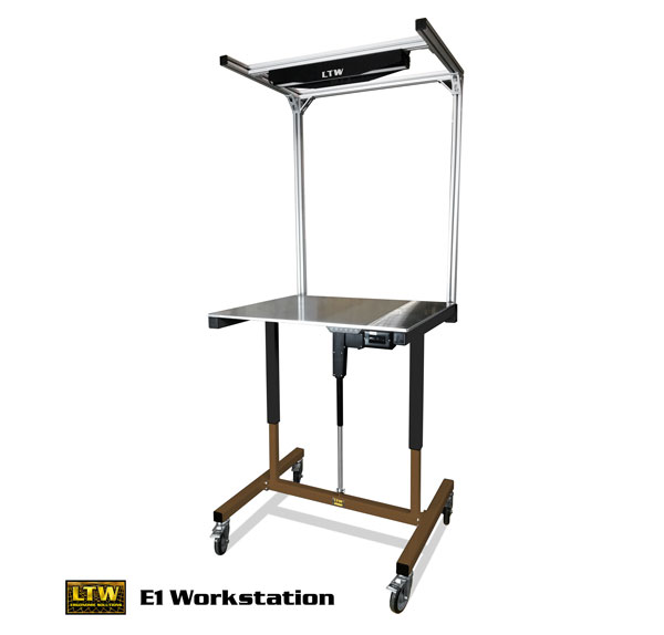 Height Adjustable Industrial E1 Workstation by LTW Ergonomic Solutions